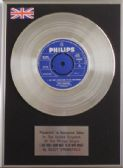 "DUSTY SPRINGFIELD -7"" Platinum Disc - I just dont know what to do with myself"